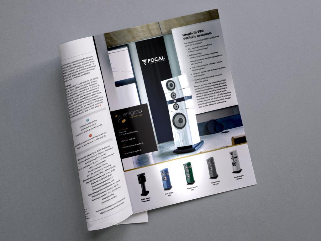 Print advertisement in magazines